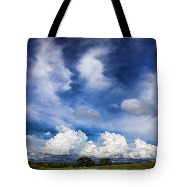 Painterly Sky Over Oklahoma Tote Bag by Toni Hopper