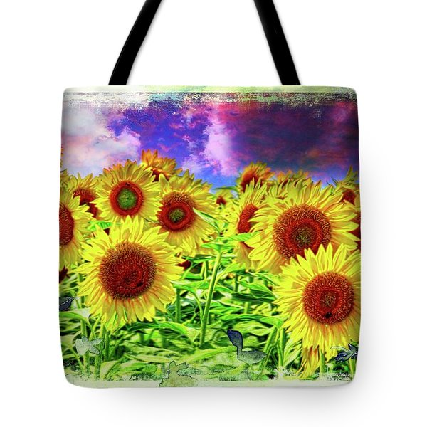 Painterly Sunflowers Tote Bag