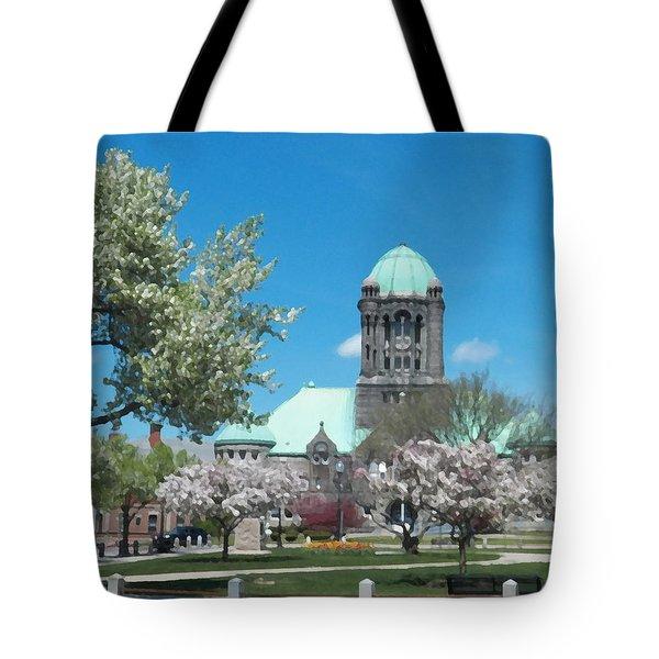 Painterly Taunton Green Spring Tote Bag