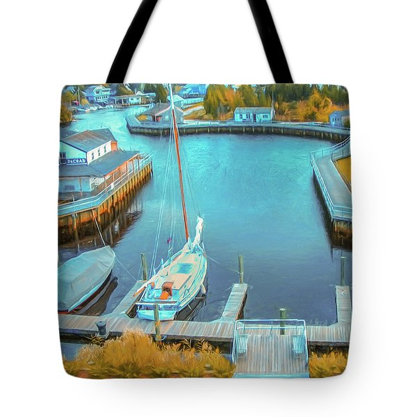 Painterly Tuckerton Seaport Tote Bag