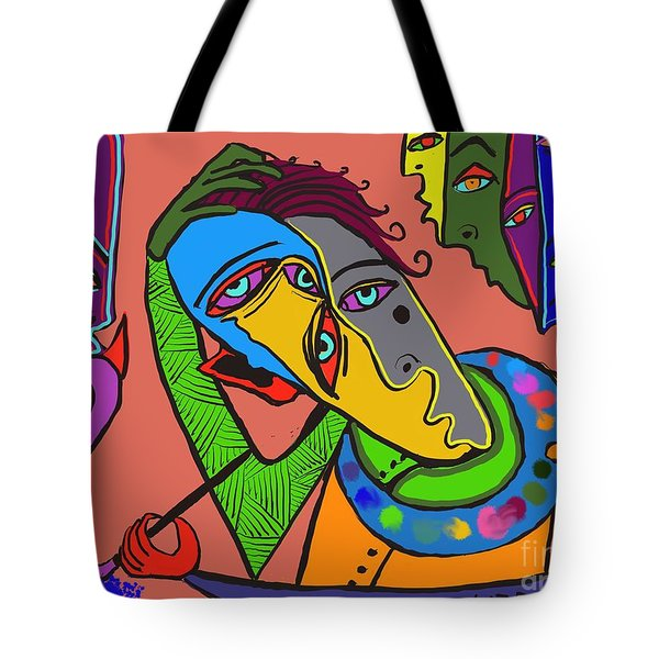 Painters Block Tote Bag by Hans Magden