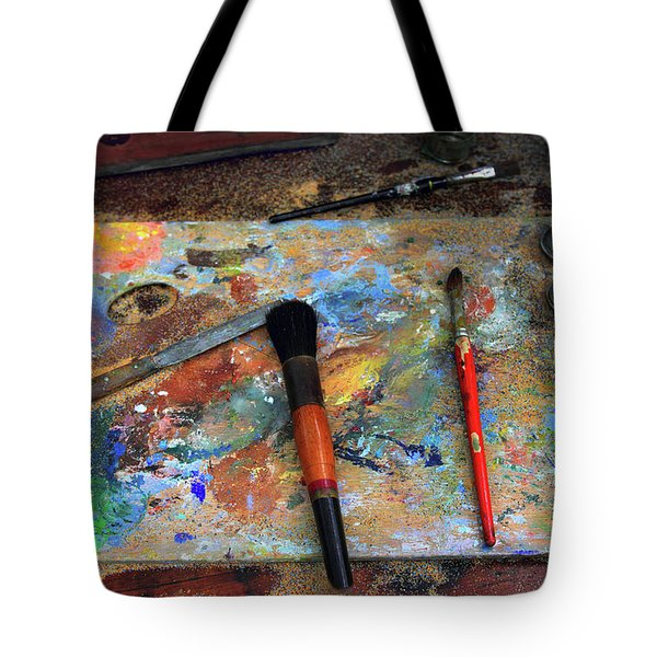 Tote Bag featuring the photograph Painter's Palette by Jessica Jenney