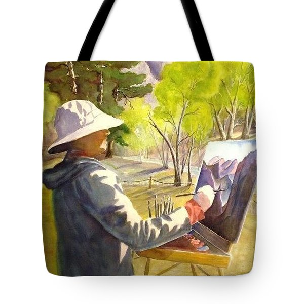 Painters Paradise Tote Bag by Marilyn Jacobson