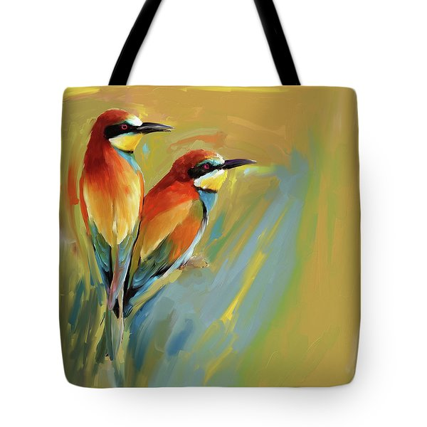 Painting 662 1 Bird 9 Tote Bag