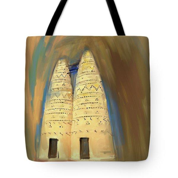 Painting 676 1 Pigeon Houses Tote Bag