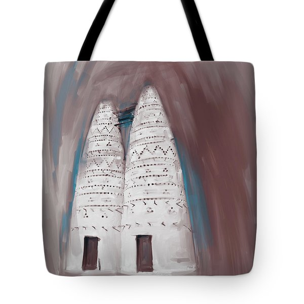 Painting 676 2 Traditional Pigeon Houses Tote Bag