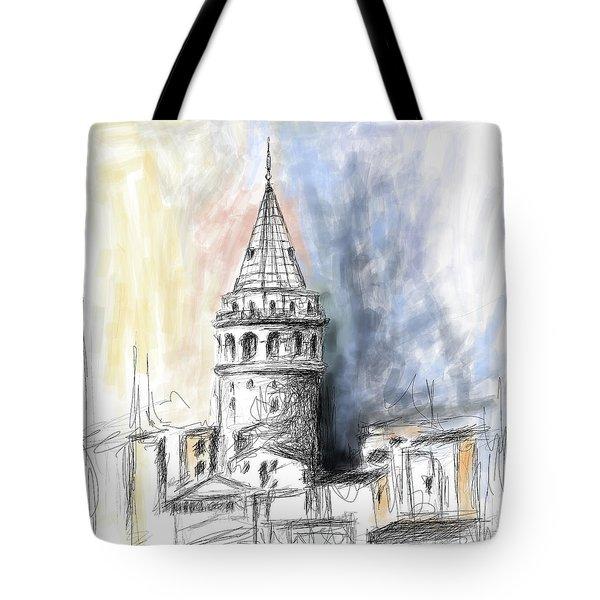 Painting 762 1 Galata Tower Tote Bag