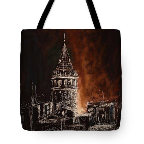 Painting 762 4 Galata Tower Tote Bag