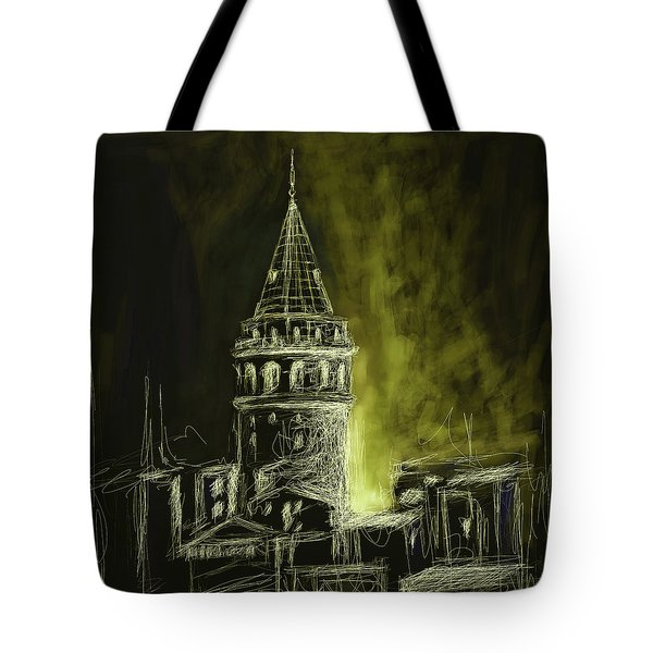 Painting 762 5 Galata Tower Tote Bag