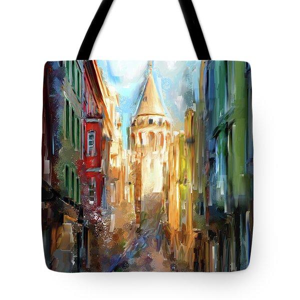 Painting 764 1 Galata Tower Tote Bag