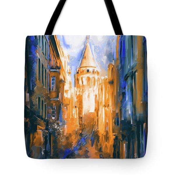 Painting 764 4 Galata Tower Tote Bag
