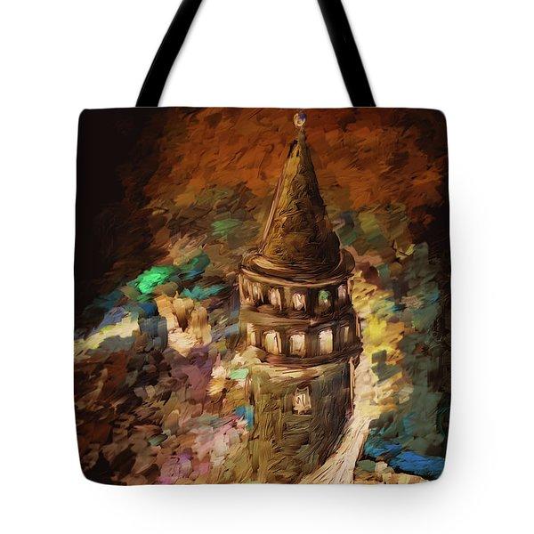 Painting 765 2 Galata Tower Tote Bag