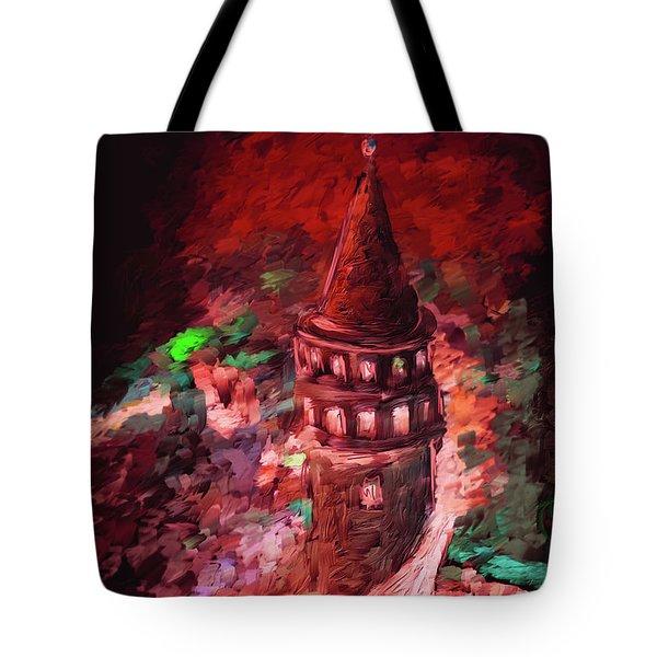 Painting 765 3 Galata Tower Tote Bag