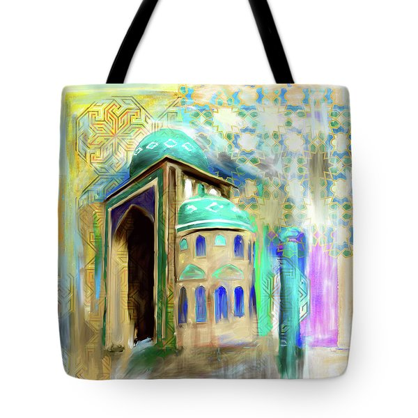 Painting 774 1 Jalil Khyat Mosque Tote Bag