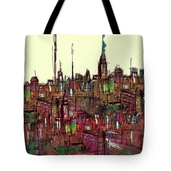 Painting 775 1 New York Skyline Tote Bag