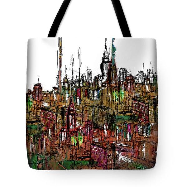 Painting 775 2 New York Skyline Tote Bag