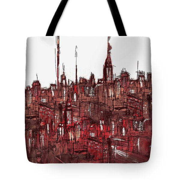 Painting 7756 New York Skyline Tote Bag