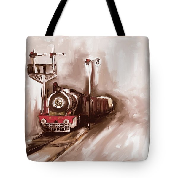 Painting 801 3 Steam Engine Tote Bag