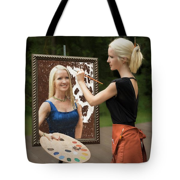 Painting A Self Portrait Tote Bag