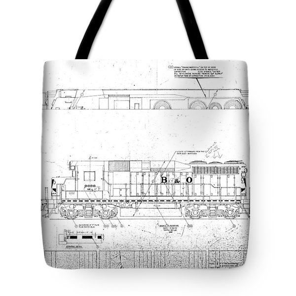 Painting And Lettering Diagramgp30 Tote Bag