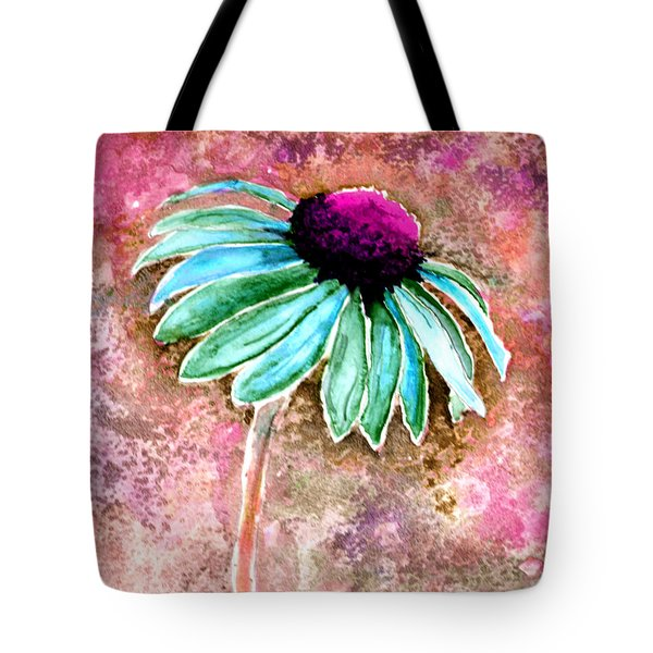 Tote Bag featuring the painting Painting Cone Flower 8615d by Mas Art Studio