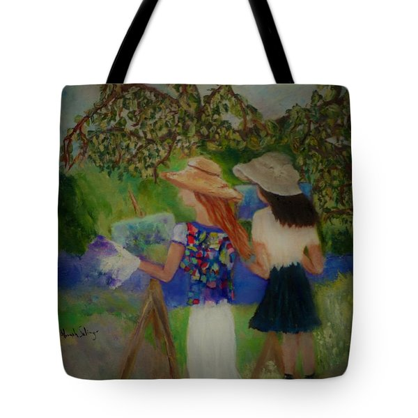 Painting In France Tote Bag by Aleezah Selinger