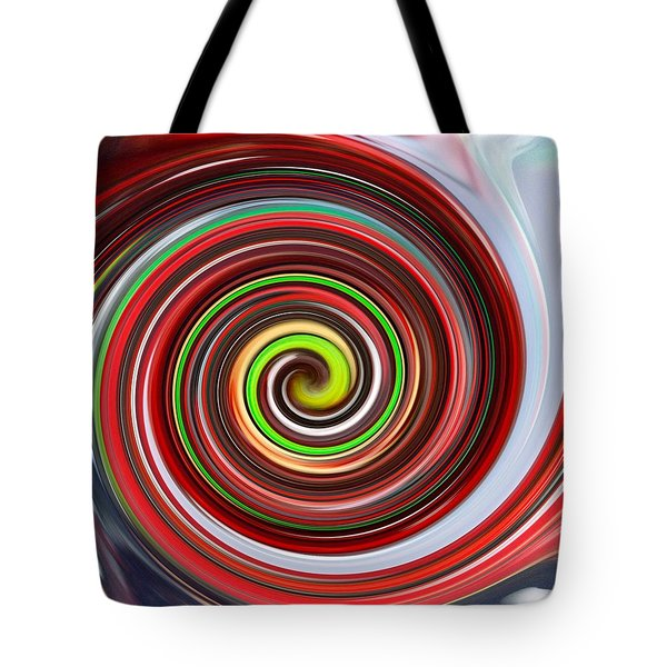 Tote Bag featuring the painting Painting Morphing Into Digital 2 by Carolyn Repka