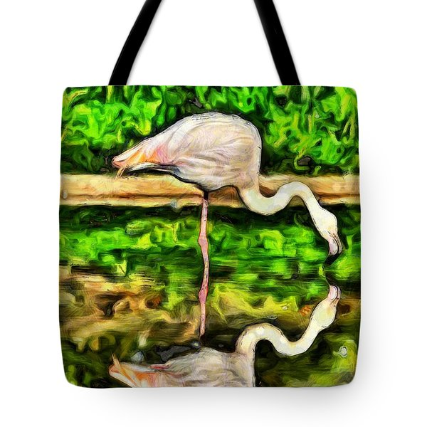 Painting Of Greater Flamingo Tote Bag