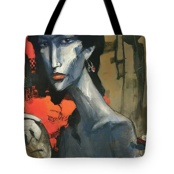 Painting Of The Lady _ 1 Tote Bag by Behzad Sohrabi