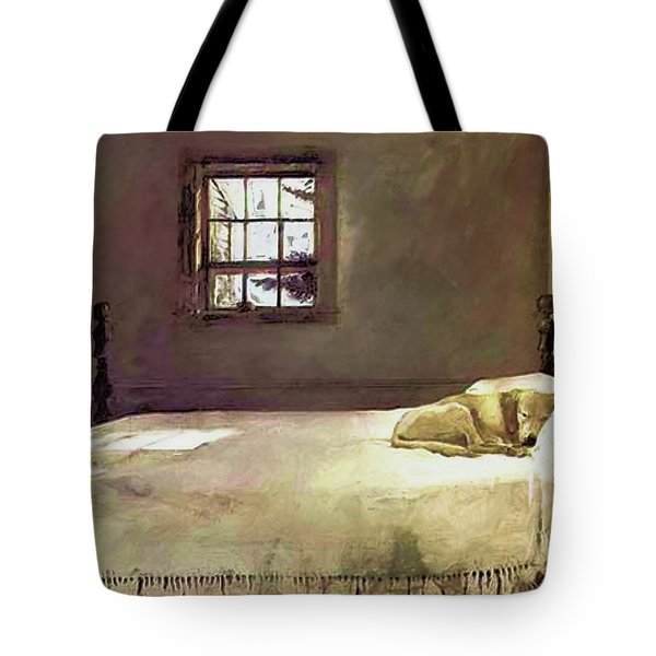 Painting Of The Print, Master Bedroom Tote Bag