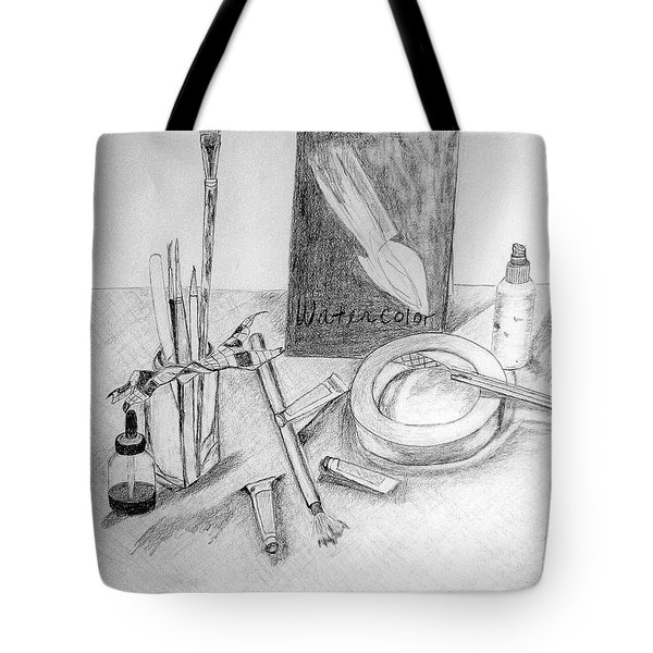 Painting Supplies Tote Bag by Jamie Frier