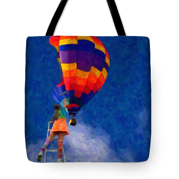 Painting The Sky Tote Bag by Andre Faubert