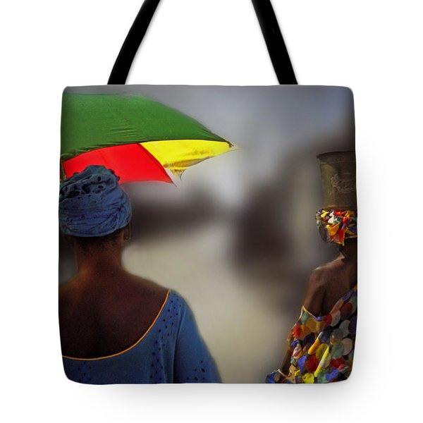 Painting The Streets Of Kayar Tote Bag