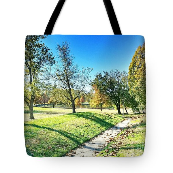 Painting With Shadows - Park Day Tote Bag