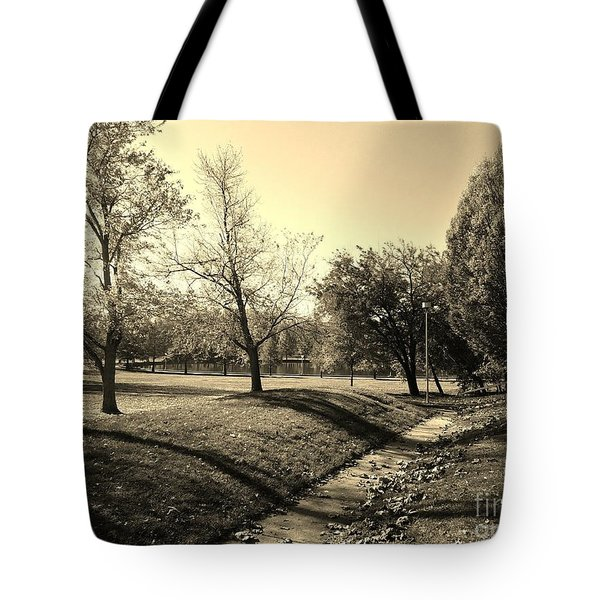 Painting With Shadows - Sepia Tote Bag