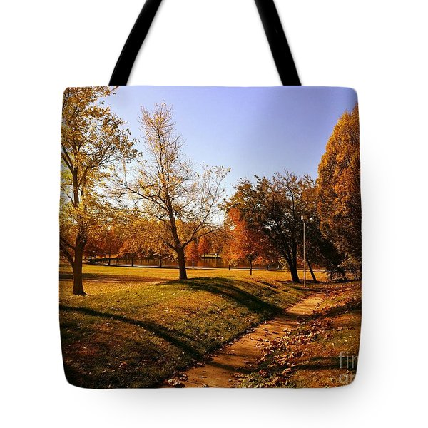Painting With Shadows - Setting Sun Tote Bag