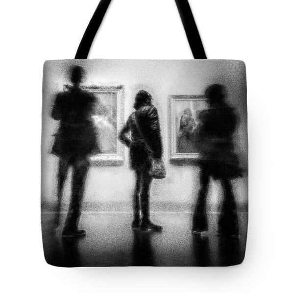 Paintings At An Exhibition Tote Bag