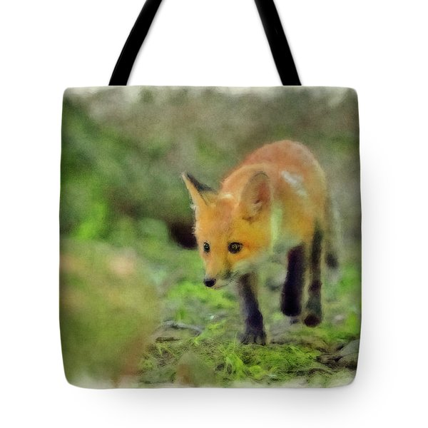 Paintography A Stalking Red Fox Tote Bag