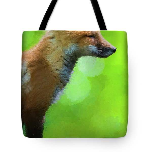 Paintography Portrait From The Side Tote Bag
