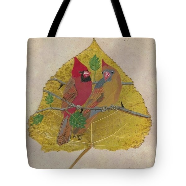 Pair Of Cardinals Tote Bag