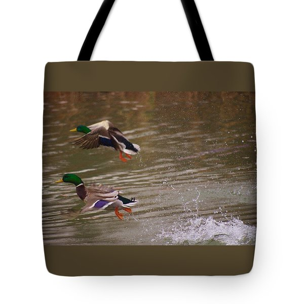 Pair Of Ducks Tote Bag