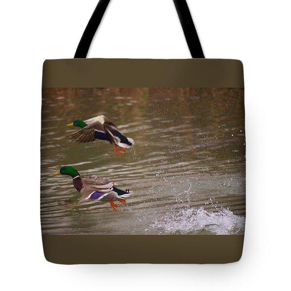 Pair Of Ducks Tote Bag