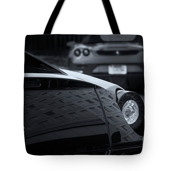 Tote Bag featuring the photograph Pair Of Ferraris 2 by Dennis Hedberg