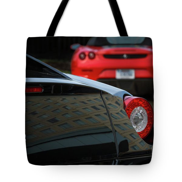 Tote Bag featuring the photograph Pair Of Ferraris by Dennis Hedberg
