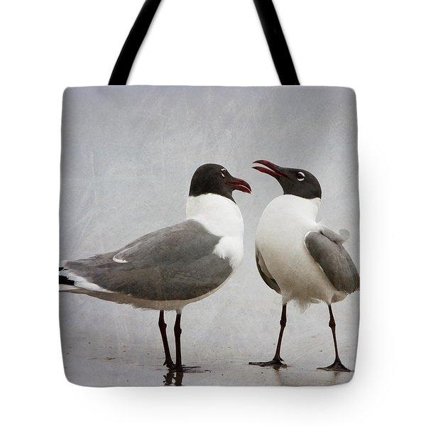 Pair Of Laughing Gulls Tote Bag