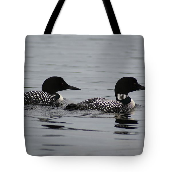 Pair Of Loons Tote Bag by Steven Clipperton