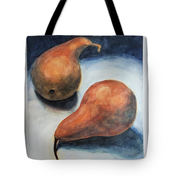 Pair Of Pears Tote Bag by Rachel Hames