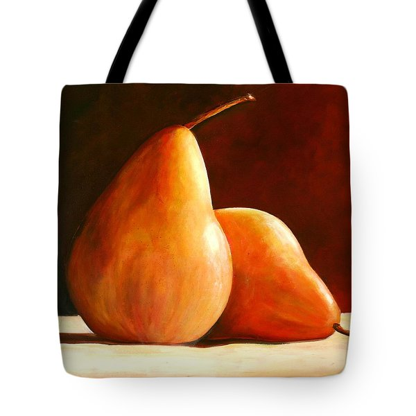 Pair Of Pears Tote Bag by Toni Grote
