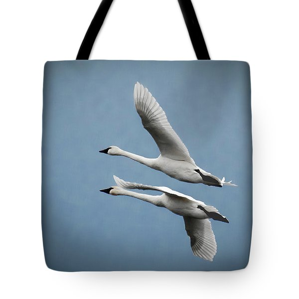Pair Of Tundra Swan Tote Bag