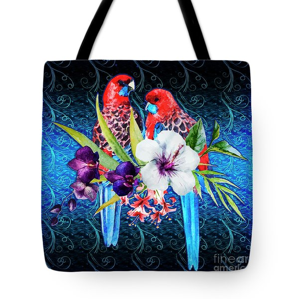 Paired Parrots Tote Bag